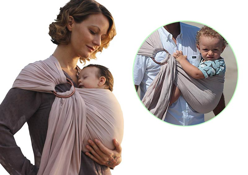 Pura Vida Slings Luxury Ring Sling Baby Carrier