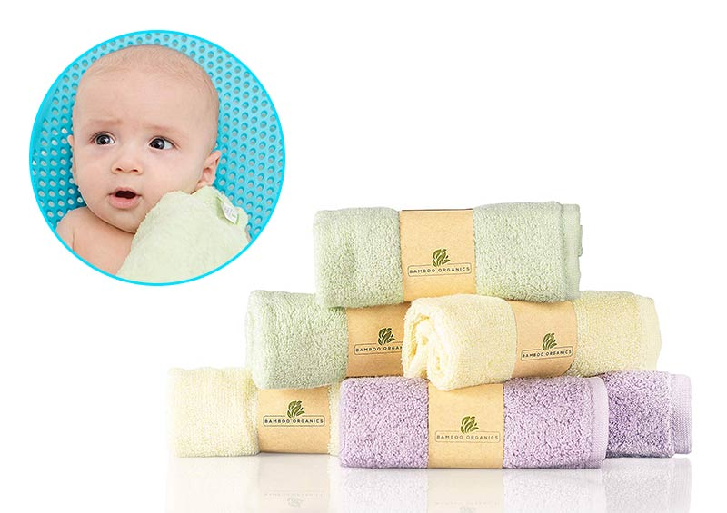 Best Bamboo Baby Washcloths Soft by Bamboo Organics