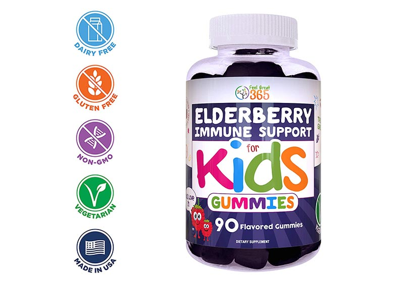 Elderberry Immune Support Gummies by Feel Great 365