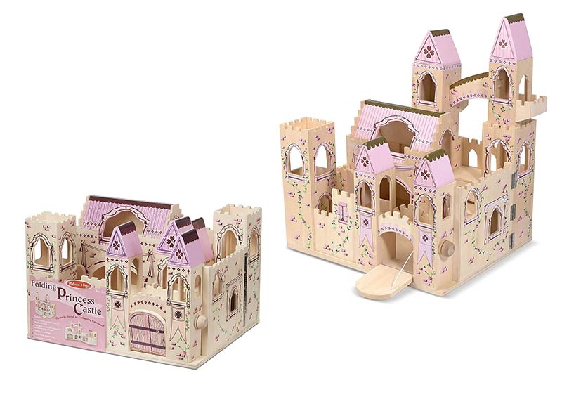 Melissa & Doug Folding Wooden Princess Castle