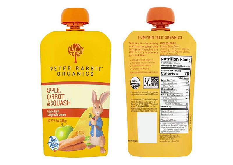 Peter Rabbit Organics Apple, Carrot and Squash Puree